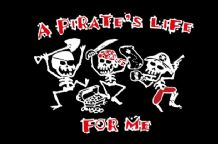 A PIRATES LIFE FOR ME - 5 X 3 FLAG